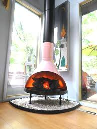modern gas fireplaces for retro mid century mod pink black