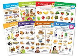 Food And Its Nutrients Chart My Plate Food Nutrition Bulletin Board Chart Set