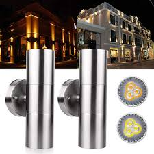Stainless Steel Up Down Wall Light Amazon Com 2pcs Modern Stainless Steel Up Down Wall Light