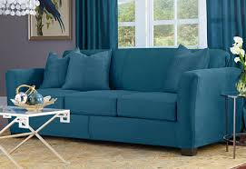 peacock blue furniture. Love The Peacock Blue Color Of This Heavyweight Stretch Suede Slipcover From Sure Fit! Change Furniture M
