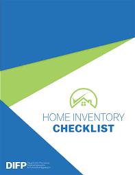 Home Inventory Checklist Missouri Department Of Insurance