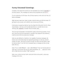 Voicemail Template Greetings Phone Message Templates