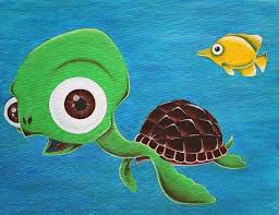 paintings of turtles abstract sea turtle painting lonesome fish and friendly by oil paintings of turtles