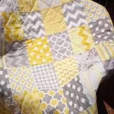 Shop Grey And Yellow Quilts on Wanelo & Modern Baby Quilt,Grey,yellow,baby girl quilt,baby boy bedding, Adamdwight.com