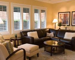 living room decor brown couch