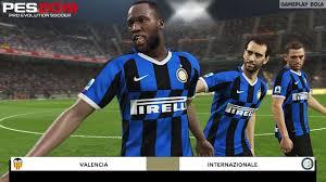 Valencia vs Inter Milan | PES 2019/2020 Realistic Gameplay