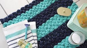 hand weaved bath mat