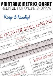 meteric chart helpful metric chart quickly learn lengths