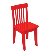 kidkraft avalon seating chair in red