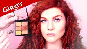 brown eye makeup tutorial for gingers or redheads with freckles makeup for red hair and blue eyes