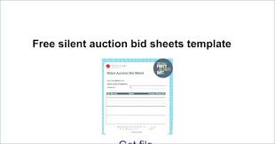 Silent Auction Bid Sheet Word Silent Auction Bid Sheet Template Word 3103431200036 Free Bid