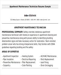 Maintenance Technician Resume Enchanting 44 Sample Maintenance Technician Resumes Sample Templates