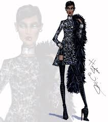 85540252 Hayden Williams Fashion Illustrations Winter White By