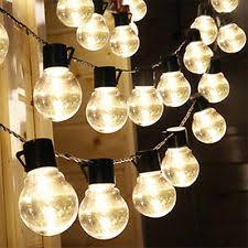 Plain Solar String Lights Patio Power Ball Shaped Bulbs Wedding With Simple Design
