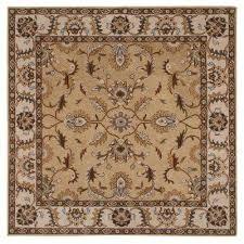 aristocrat beige 8 ft x 8 ft square area rug