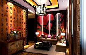 Interior:Modern Living Room Decor Meet Chinese Style Wall Art And Modern  Arch Lamp Chinese