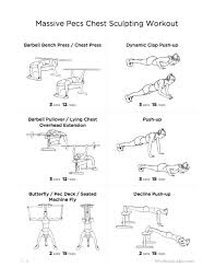 Chest Workout Chart Pdf Sport1stfuture Org