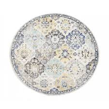 moroccan fine diamond design floor area rug istanbul washed out grey round image