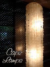 natural color capiz chandelier lamps