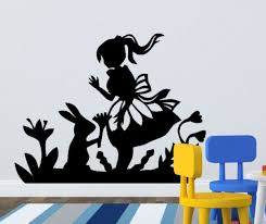 alice in wonderland wall decal on alice wonderland wall art with alice in wonderland wall stickers wall art kids