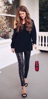 Fantastic long sleeve outfit winter ideas White Jeans winter outfits Black Offshoulder Longsleeved Shirt Red And Black Minaudiere Bag Sequined Black Leggings And Pair Of Black Opentoe Sandals Outfit Pinterest 100 Fantastic Winter Outfits To Inspire You Outfit Ideas Winter