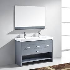 grey double vanity. Contemporary Double Virtu USA MD423  Gloria 48 Double Sink Bathroom Vanity Grey Finish  Inside