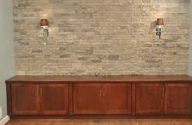 brick veneer flooring. Inspiring Wall Decoration With Airstone Lowes Plus Wooden Cabinets And Lights For Home Ideas Brick Veneer Flooring