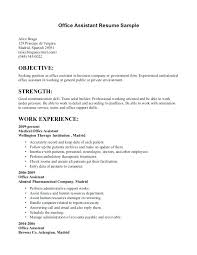 Sample Office Assistant Resume Administration Assistant Resume Yuriewalter Me
