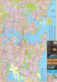 sydney ubd wall map laminated buy wall map of sydney  mapworld