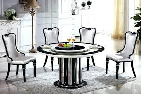 round table with lazy susan dining room built furniture of