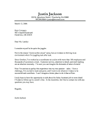 Sample Cover Letters For A Job Sample Application Later For Fresh