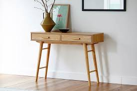 retro hall table. Gangnam Retro Hall Table In Natural Stain K