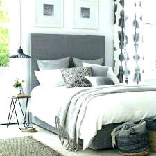 Dark Grey And White Bedroom Grey Headboard Bed Grey Headboard Bed ...