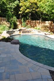 freeform pool with natural borders