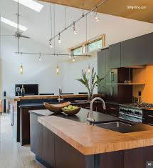 monorail pendant lighting. above u0026 below kitchen with satin nickel lbl 2circuit monorail topsi coax lowvoltage pendants in amber various ceiling heights are accomodated pendant lighting