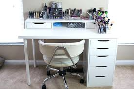 marvelous makeup desk ikea for home design provide bedroom white vanity table with drawer and top