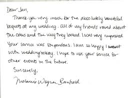 Testimonials Letters Of Appreciation What Our Bridal Clients Think