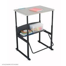 com safco s 1201be alphabetter stand up desk with swinging footrest bar 28 x 20 standard top black frame beige top kitchen dining