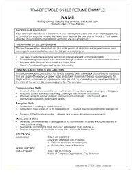 Advanced Resume Resume Skill Set Examples Sample Of Resume Skills And Abilities