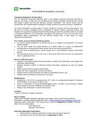 Banking Resume Template Investmentanker Sample Samples