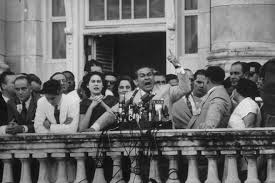 remembering the n revolution msnbc  president of fulgencio batista giving a speech on a balcony during a political demonstration to