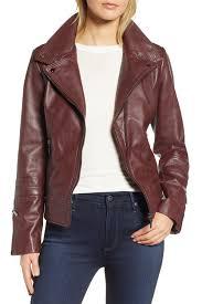image of bernardo leather moto jacket