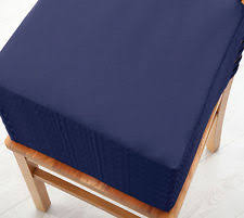 navy 2 pack seat pad cushions velcro fastening dining kitchen chairs soft