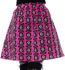 Blue Platypus Cat Phone Skirt Pink