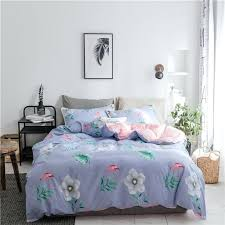 purple twin duvet cover sets beautiful blue flowers set queen king size