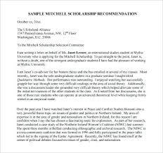 Recommendation Letter For Scholarship Best Ideas Of Sample