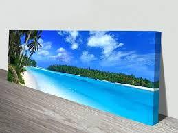 wall arts long canvas wall art amazing beach long canvas wall art panoramic print chairs