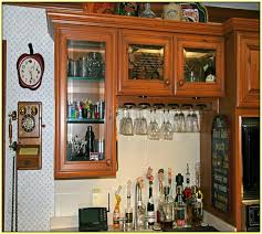 black kitchen cabinets with glass inserts photo 15