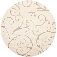safavieh florida cream beige 5 ft x 5 ft round area rug
