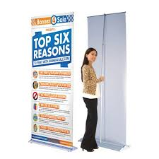 Retractable Display Stands 100 inch Popup Retractable Banner Stand Trade Show Displays 28